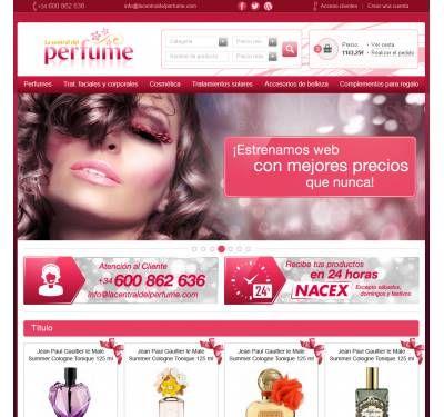 Diseño Tienda Online Oscommerce La central del perfume