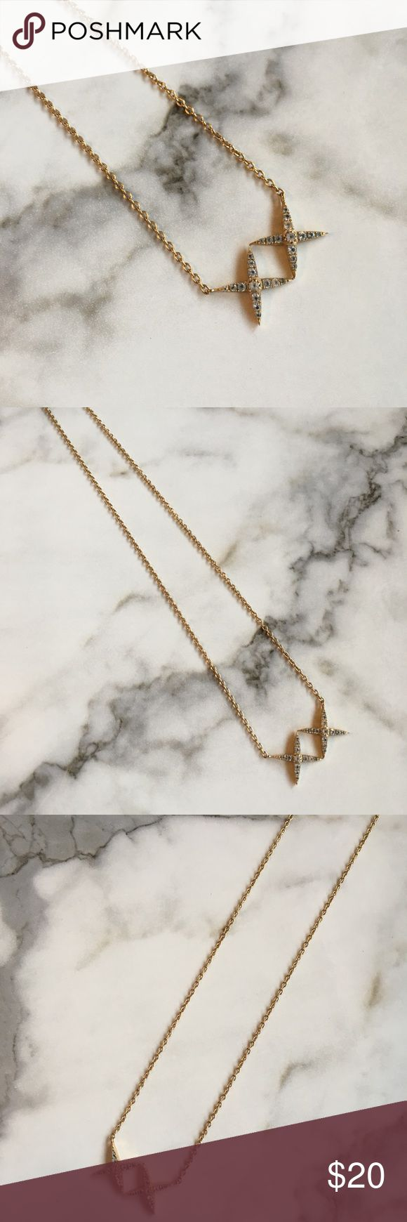 Elizabeth and James double X Necklace. Beautiful Elizabeth and James gold Double X necklace. Only worn a couple of times and is in excellent condition. Elizabeth and James Jewelry Necklaces