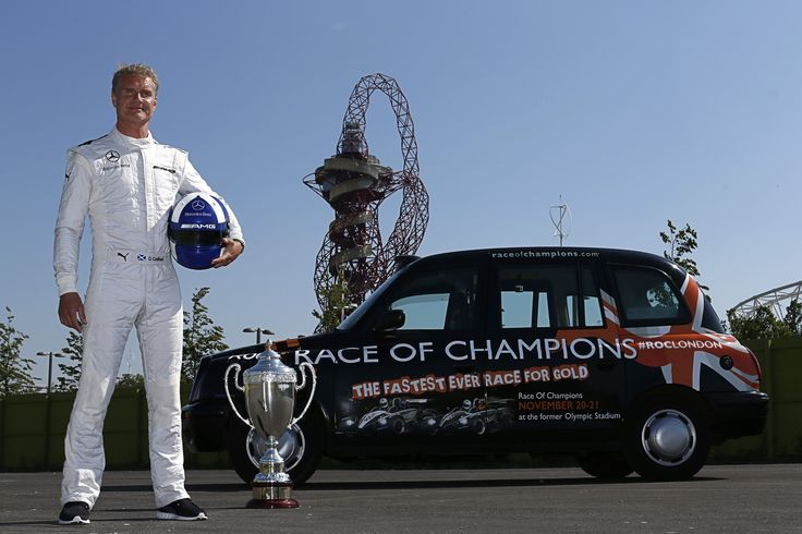 David Coulthard at the former Olympic Stadium
