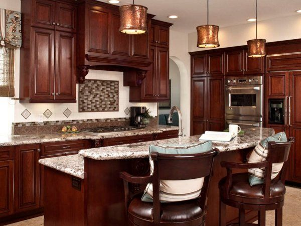 Two tiered island dream home pinterest - Two tier kitchen island ...