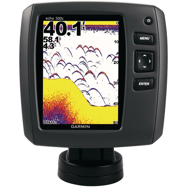 Garmin Echo 500c Fish Finder: The fish finder is also equipped with a 5 inch 256 color LCD display for clear viewing under the water.