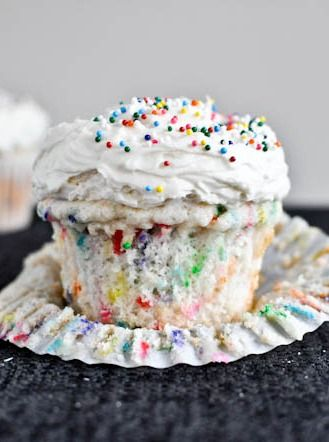 There are never too many sprinkles in this Homemade Funfetti Cupcake recipe! A yummy dessert your kids will eat up!