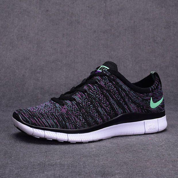 """NIKE"" Trending Fashion Casual Black Mixed Purple Sports Shoes"