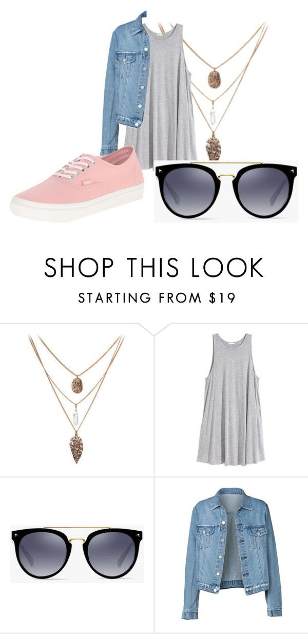 """Summer nights"" by heather-harmon-i ❤ liked on Polyvore featuring H&M, Vans and Denimondenim"
