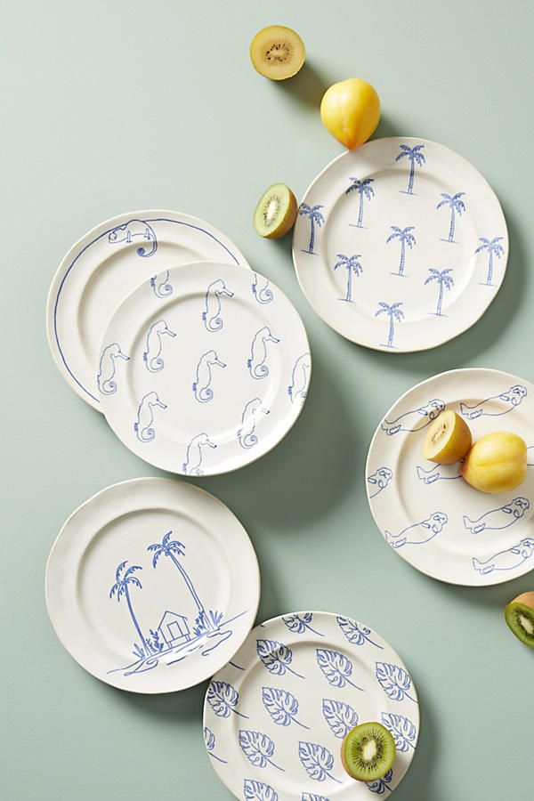 Islander Dessert Plate. Simple yet fun and playful dinner plates - liven up dinner time/