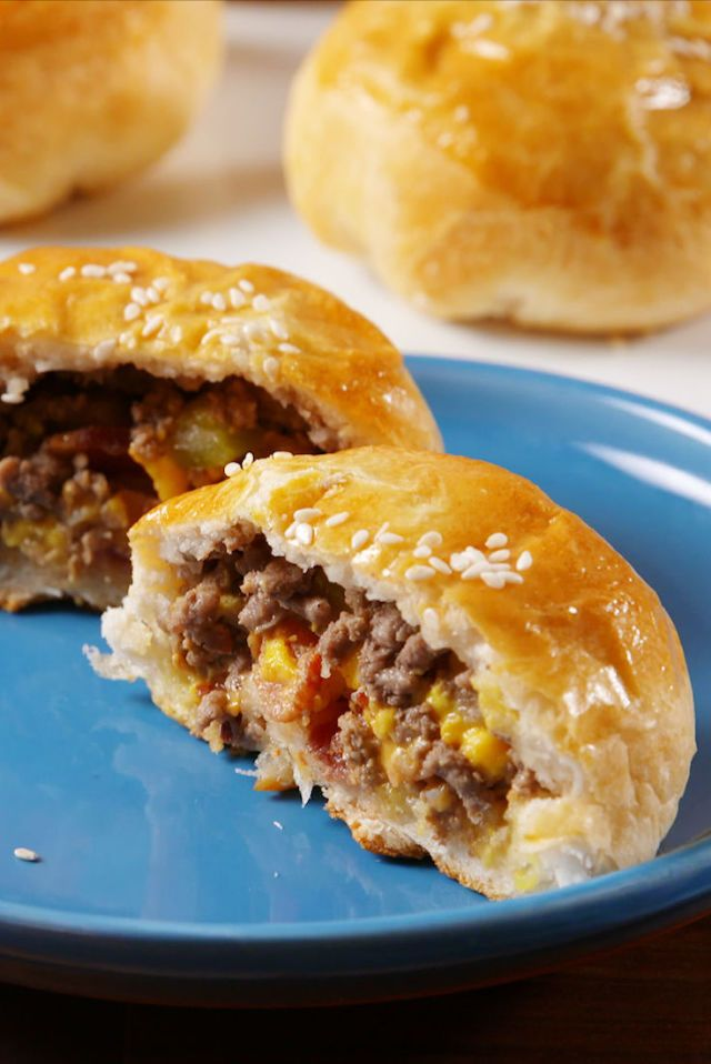 Bacon Cheeseburger Bombs also use turkey or sausage