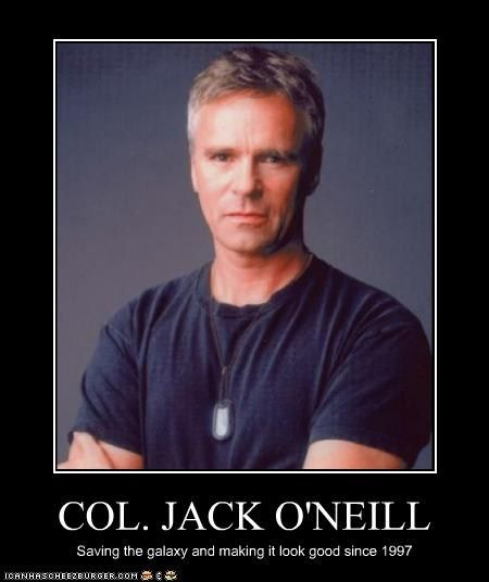 Richard Dean Anderson as Colonel Jack O'Neill in Stargate (later Lieutenant General)