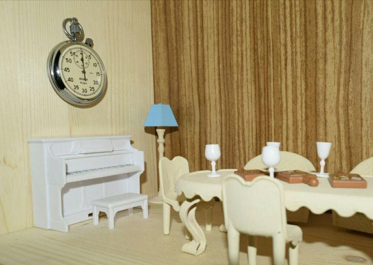 #sylvanian #diy #dollhouse #miniatures #sylvanianfamilies #mousehouse #livingroom