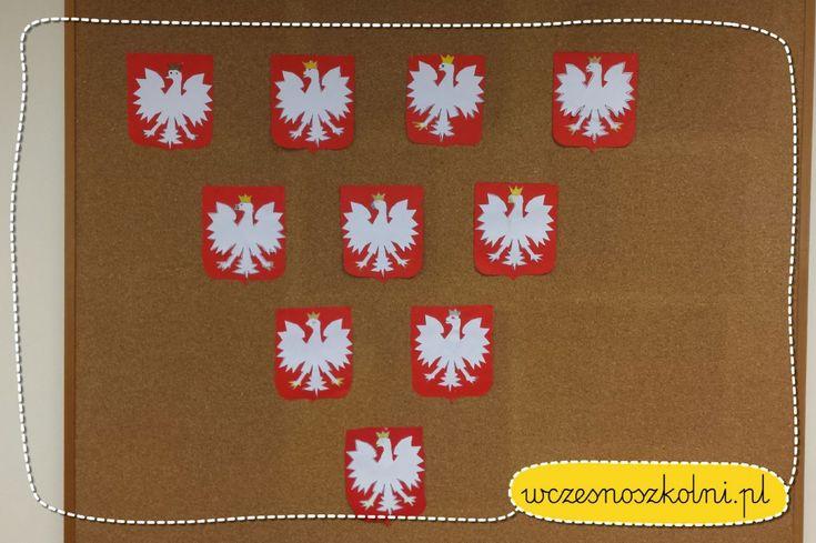 godlo-polski-szablon-dla-dzieci