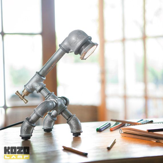 KOZO 20 industrial chic desk lamp by KozoLamp on Etsy, $379.00