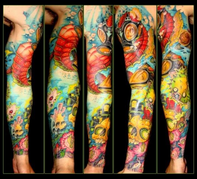 colorful calf tattoo | ... : Tattoo Picture Marathon ...