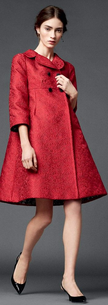 Dolce & Gabbana - Yin Gamine coat, super chic, could work for a lot of occasions depending what it's with. Also looks like a dress that I want.