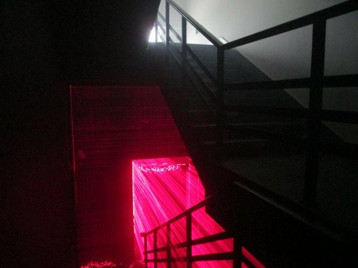 Li Hui - Gate, Laser, mirror, wood, Variable dimensions, 2009