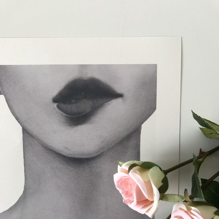Red lips pencil drawing print added! Limited edition of one only