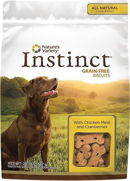 Nature's Variety Instinct Chicken Meal Formula And Cranberry Dog Biscuits