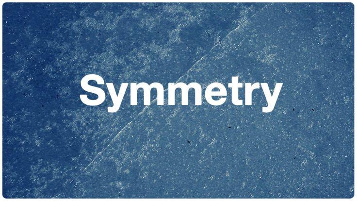 Everynone: Symmetry. Een video die steeds in 2 beelden de tegenoverstaanden en opvolgende processen en elementen van het leven neerzet. Een interessant bewerkt spel tussen 2 beelden die los van elkaar een stuk minder betekenis zouden hebben.