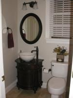 User Submitted Photo Of Vanity For Powder Bath From Lowes