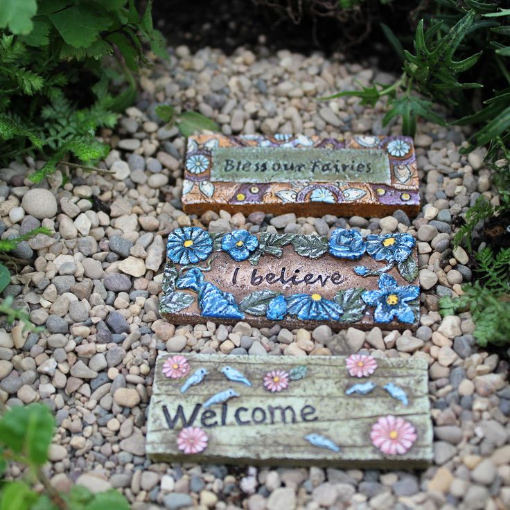 Fairy Garden Stepping Stones 255 best fairy garden accessories images on pinterest fairies fairy cottage welcome door mats can also be used as wide stepping stones dimensions long workwithnaturefo