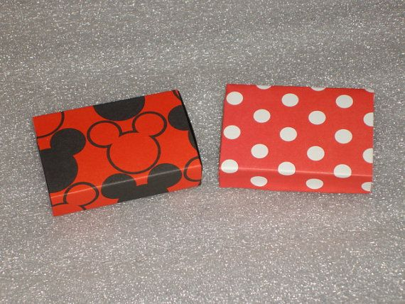 Set of 12 Mickey Mouse or Minnie Mouse  Match by LadyJPaperGarden, $10.00