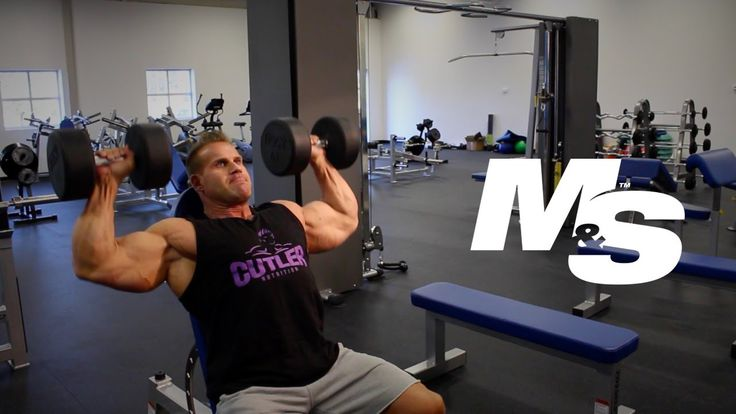 Jay Cutler's Training Tips: Dumbbell Shoulder Press Technique - YouTube