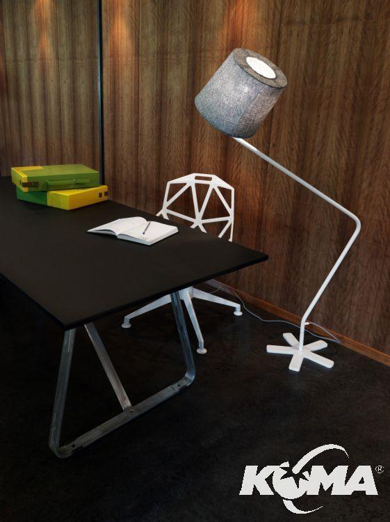 Groggy lampa podłogowa 1x100W E27 150cm szary/czarny