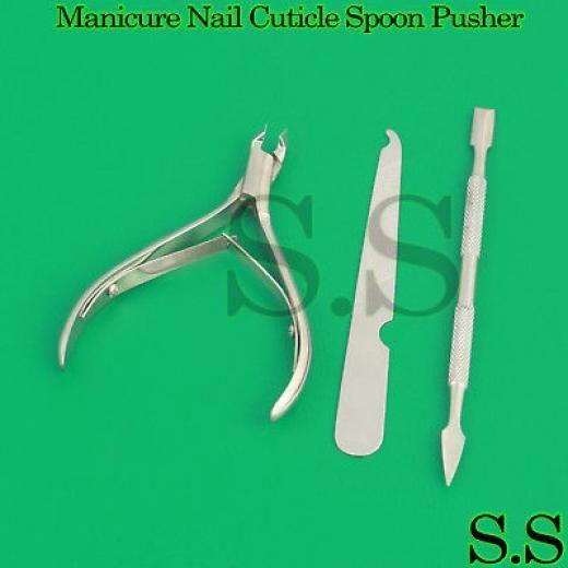 S.s Manicure Nail Cuticle Spoon Pusher Remover Cutter Nipper Clipper Cut Set Pakistan