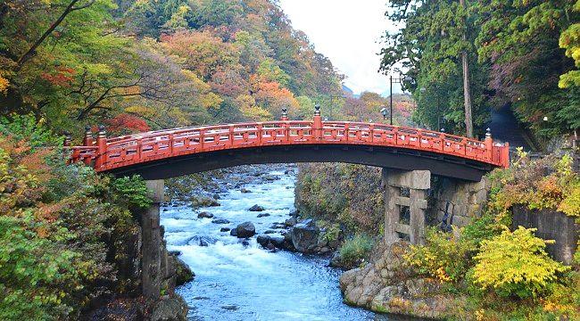 Nikko Travel: Shinkyo Bridge - sacred bridge