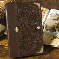 Tooled leather photo album