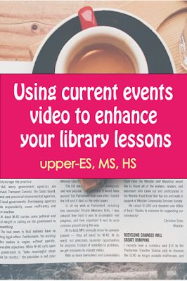 Mrs. ReaderPants: Got five minutes? Start your library time with current events...