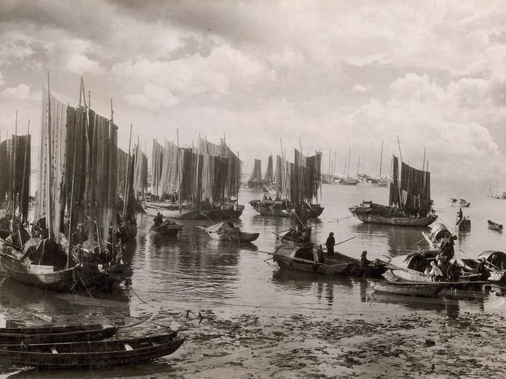 Hanging from boats in a Macao harbor, fishing nets dry in the early morning sunlight around 1931, the year photographer W. Robert Moore began his career at National Geographic. He eventually served as chief of the magazine's foreign editorial staff.