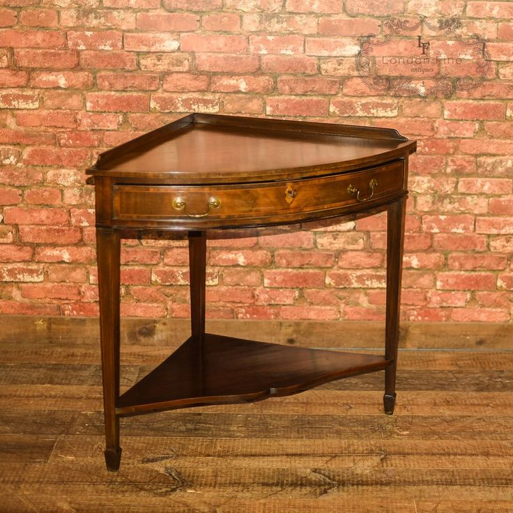 Our Stock # This is an Edwardian antique corner table in the century,  Sheraton revival style. An unusual find, this mahogany corner table is raise - 26 Best Trifles Set - FURNITURE Images On Pinterest Trifles