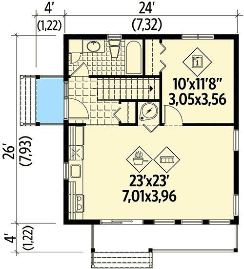 8 потрясающих открытой планировки поэтажные планы для крошечных домов