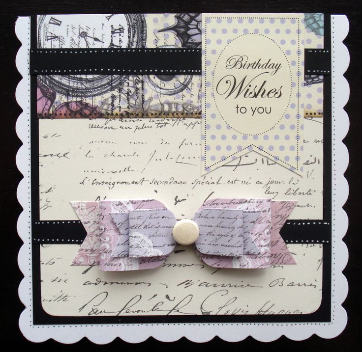 I used Time Flies Collection and Vintage Paper Bows for this card.