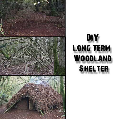 DIY Long Term Woodland Shelter