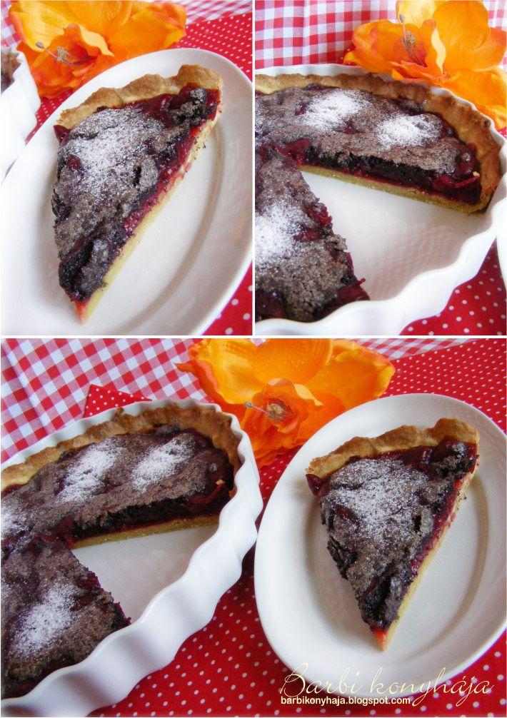 Barbi konyhája: Meggyes mákos pite torta