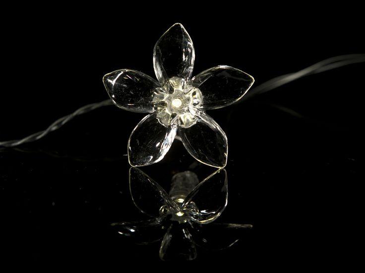 Solar power flower lights