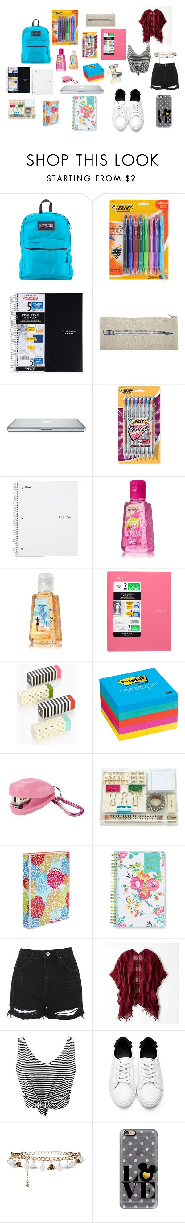 """""""Back To School"""" by avy27 on Polyvore featuring JanSport, Thomaspaul, Mead, Kate Spade, Post-It, Swingline, Avery, Day Designer, Topshop and American Eagle Outfitters"""