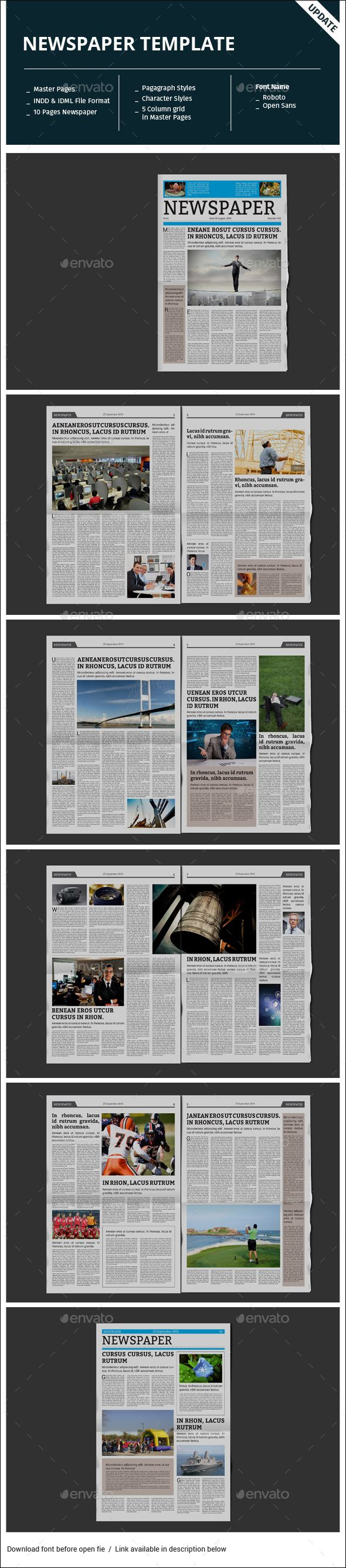 102 best Newspaper / Newsletters / Print Templates images on ...
