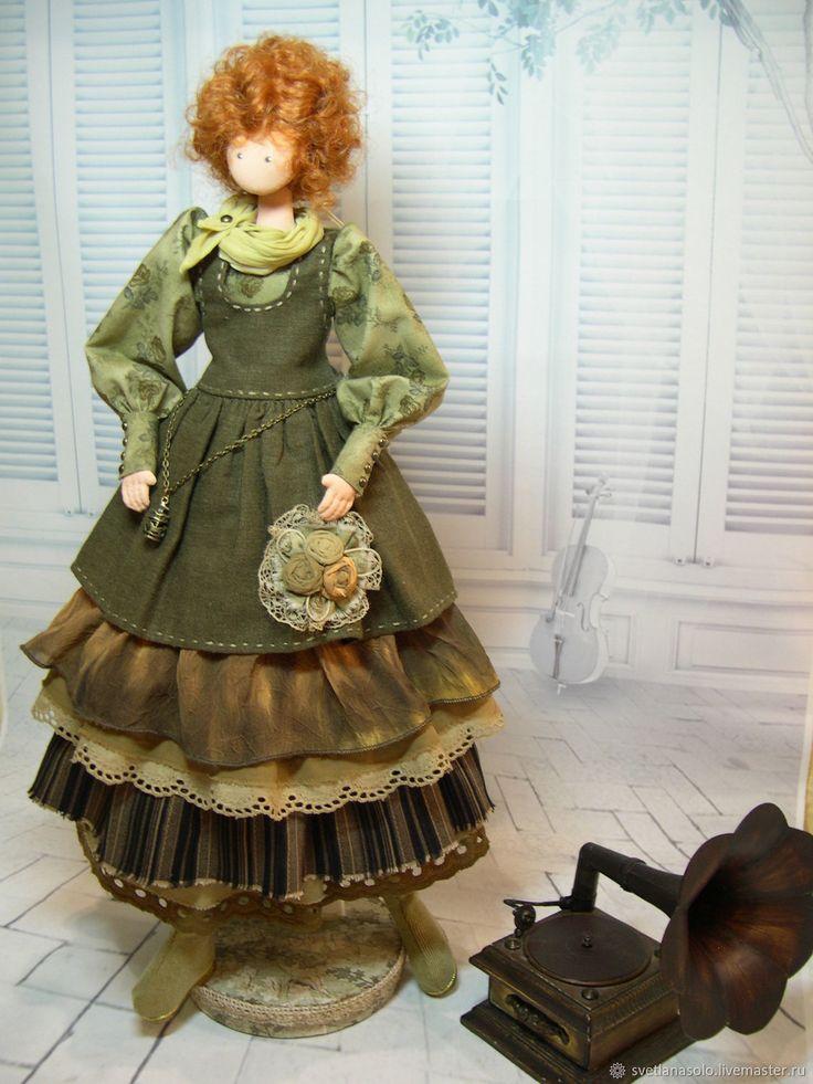 Текстильная кукла в стиле бохо Ванесса – купить или заказать в интернет-магазине на Ярмарке Мастеров | Текстильная куколка,по мотивам тряпиенсов, рост…