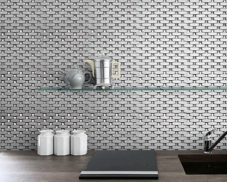 The Bling tile in silver. #style #tiles #housedesign #bathroom #bathroomdesign #decor #decoration #interiordesign #kitchen #kitchendesign