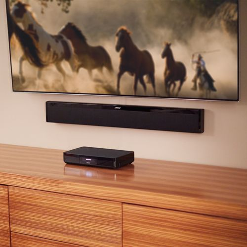 Bose® - SoundTouch 130 Home Theater System - The SoundTouch® 130 system is also a powerful music system. It lets you easily enjoy wireless music when connected to your existing home Wi-Fi network or Bluetooth® devices. Stream music services like Spotify® and Pandora®, Internet radio stations or your own stored music library. A free app lets you control your music from anywhere in the house with your phone or tablet.  #bose #home #audio #soundbar #living #room #entertainment