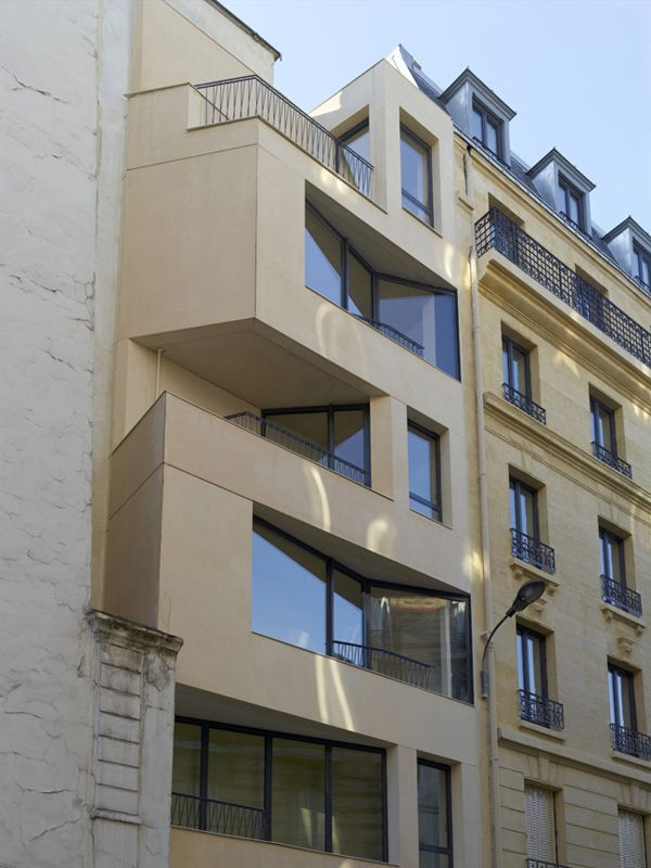 architecture h2o Cavaignac 02 Creative Modern Extension to 19th Century Building in Paris by h2o architectes