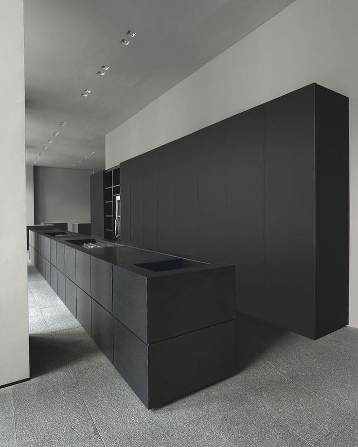 Best 25+ Black kitchens ideas on Pinterest   Navy kitchen cabinets ...