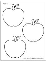 Apples | Printable Templates & Coloring Pages | FirstPalette.com