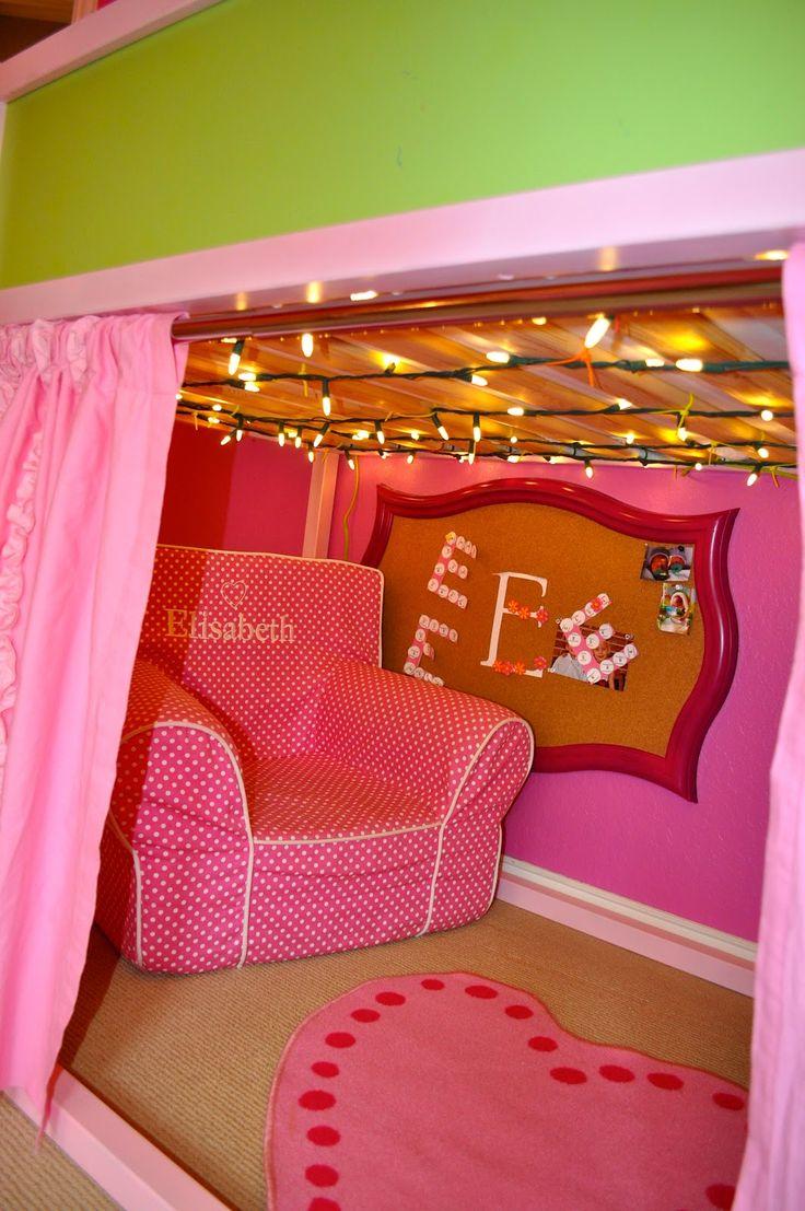 Loft bed lighting ideas   best Baby u Child stuff images on Pinterest  Child room For