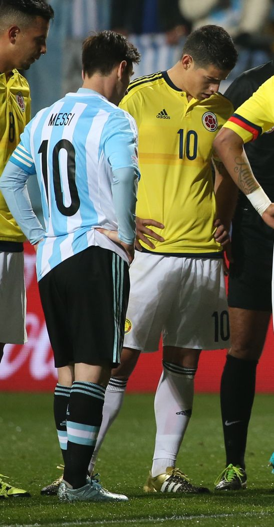 James & Messi . Colombia vs Argentina . Copa América Chile 26.6.15