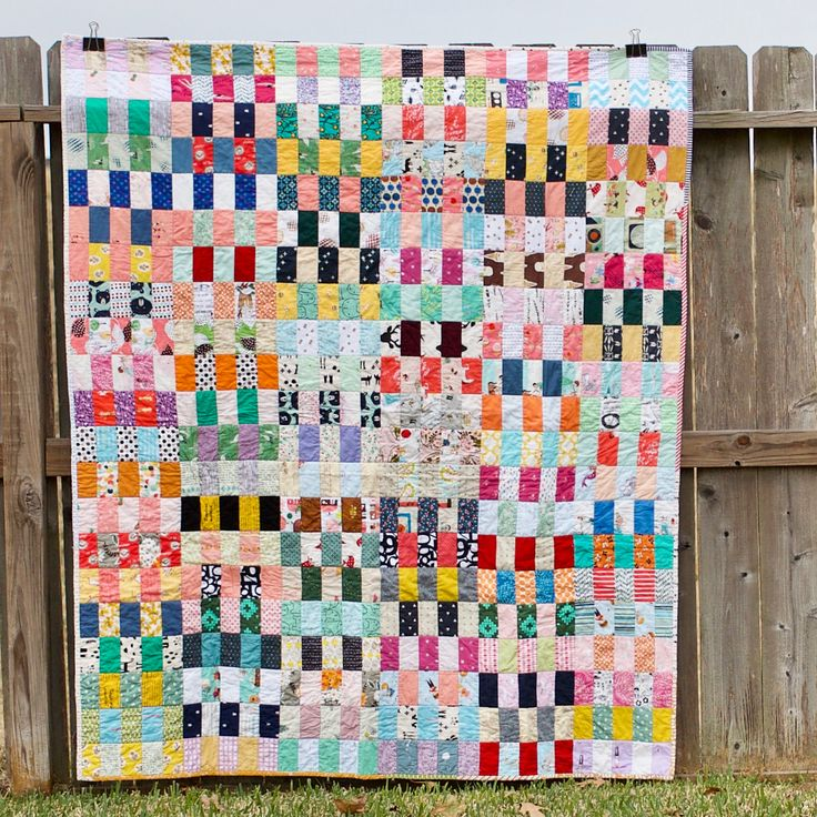 "One of my favorite scrappy quilt patterns (for now)! Rectangles are 2""x4"". (More details on the blog)."
