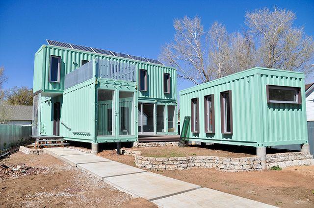 shipping container house @KD Eustaquio Pyatt-Bostock . Here is an idea