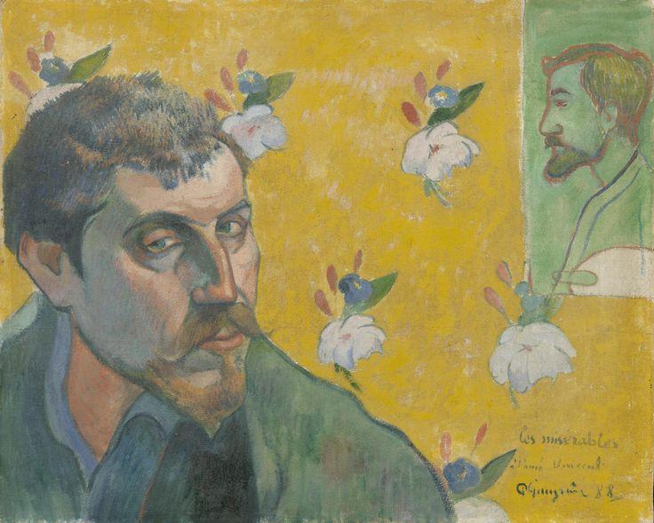 GAUGUIN Paul,1888 - Self-portrait with Portrait of Bernard, 'Les Misérables' - 0