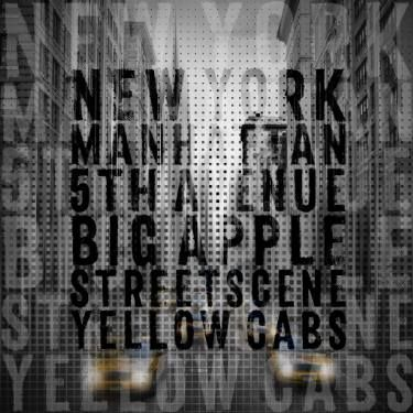 Graphic Art NYC 5th Avenue Traffic | Typography #wallart #typography #Manhattan #NewYorkCity #NYC #5thAvenue #modern #decorative #trendy